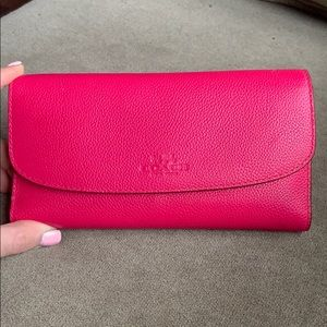 Coach wallet in hot pink